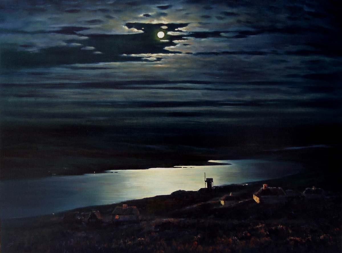 Рис. 3. Картина Куинджи «Лунная ночь на Днепре»